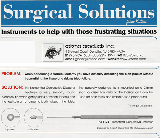 Katena Blumenthal Conjunctiva Dissector- Surgical solution