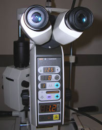 מכשיר לייזר לטיפולי עיניים בגלאוקומה
