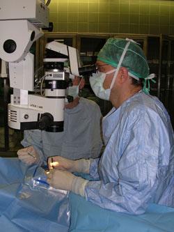 ניתוח הכנסת צינורית לטיפול בגלאוקומה