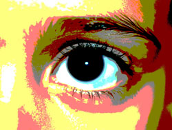 Eye in bright colors