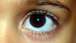 Eye looking ahead
