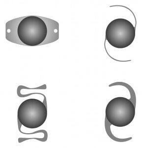 עיצובים שונים של עדשות תוך עיניות