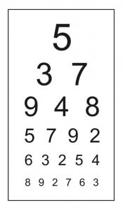 לוח לבדיקת חדות ראיה